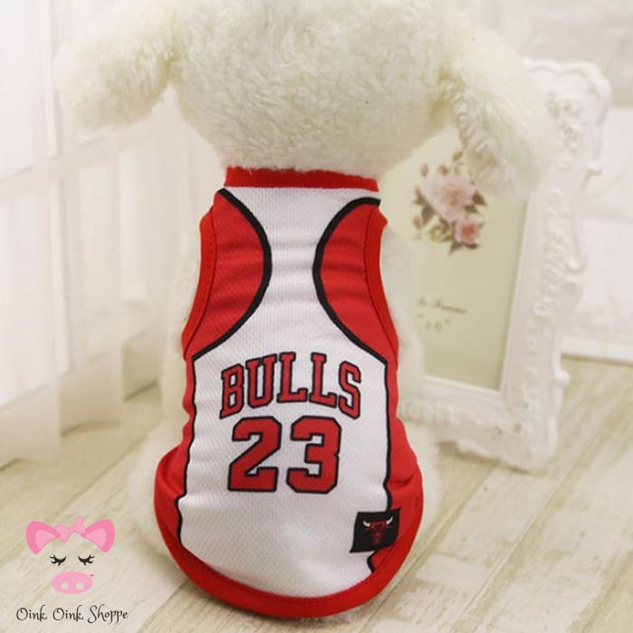 Cool Basketball Piggy Jersey - White / S