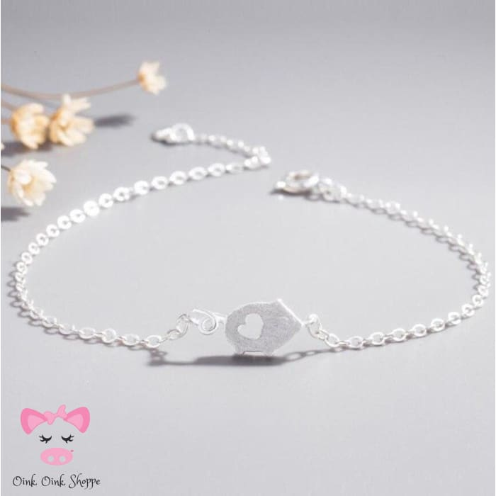 Cutesy Curly Tail Pig Bracelet
