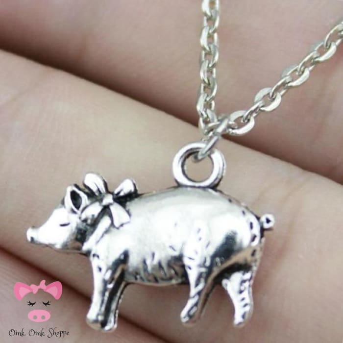 Darling Oinker Necklace - Antique Silver Plated