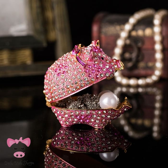 Diamond Piggy Jewelry Box - Pink