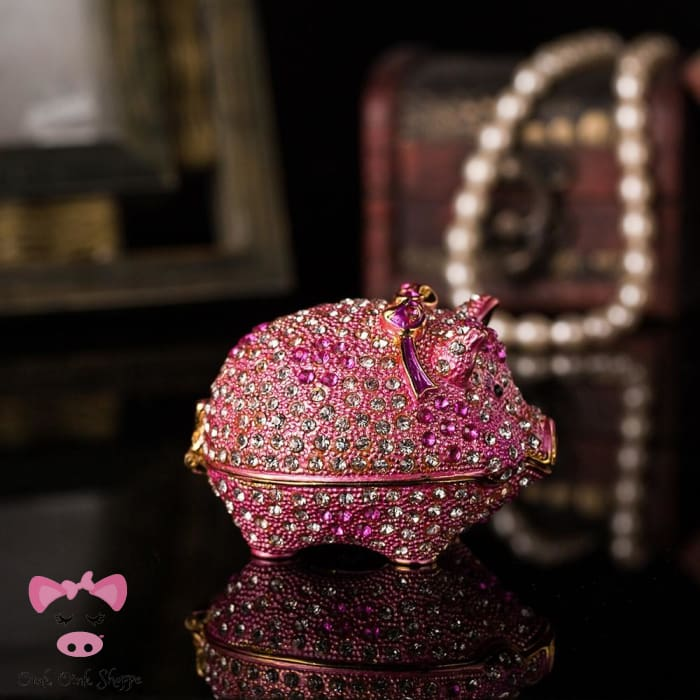 Diamond Piggy Jewelry Box
