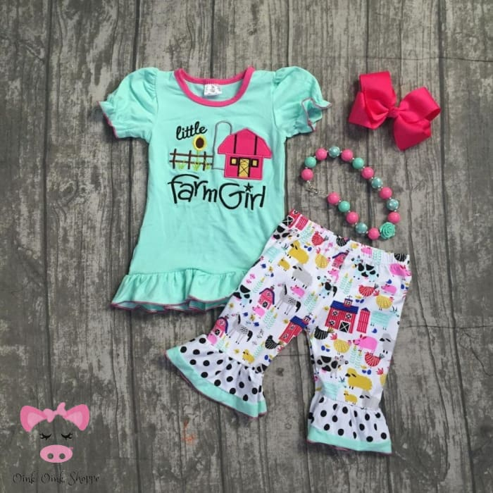 Farm Girl Capri Set - 3T