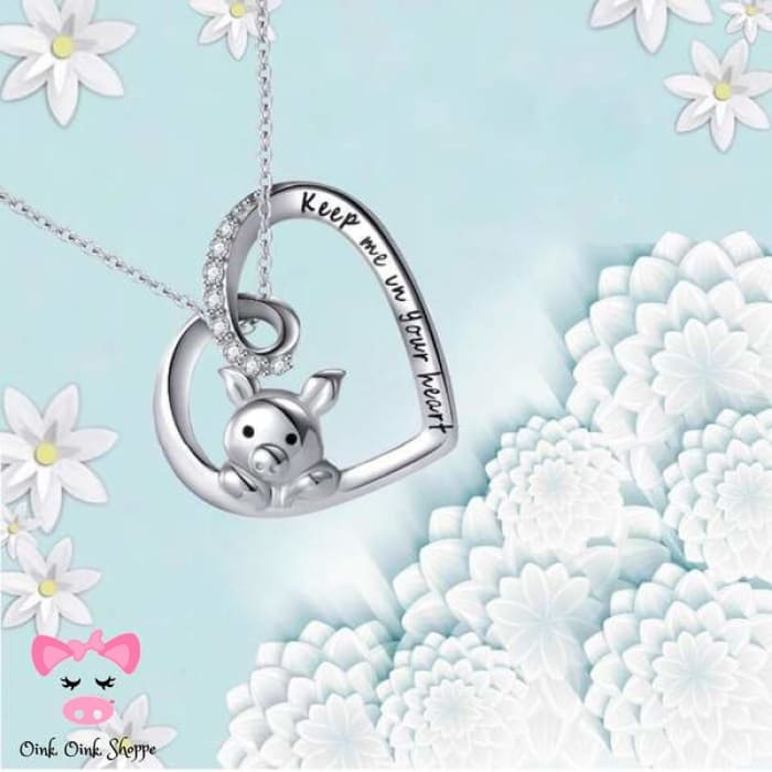 Forever In My Heart Piggy Necklace