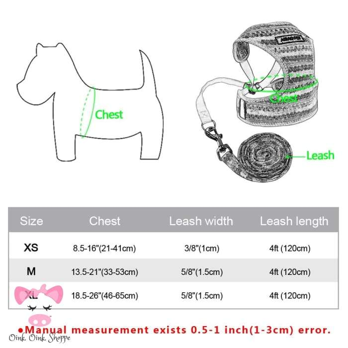 Hip Piggy Halter Vest Leash Set