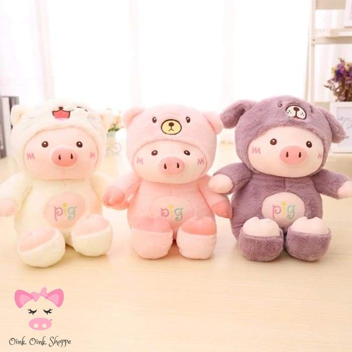 Hooded Piggy Plush