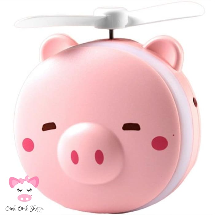 Mini Pig Mirror & Fan - Blinky