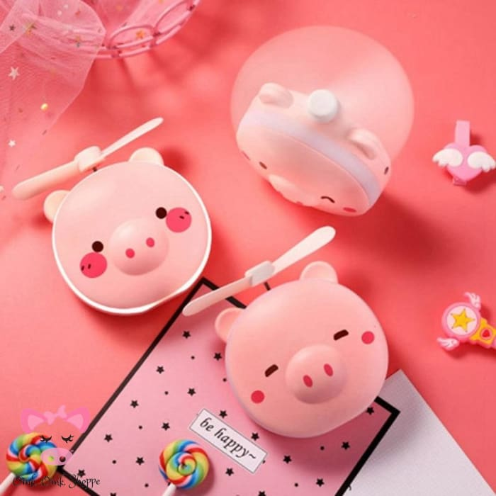 Mini Pig Mirror & Fan