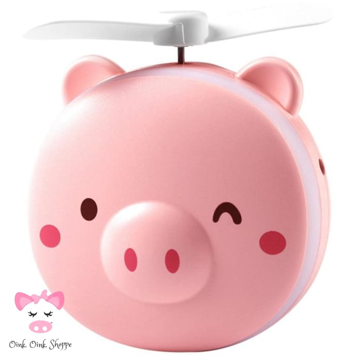 Mini Pig Mirror & Fan - Winky