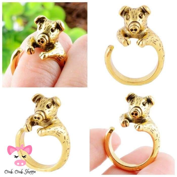 Modish Wrap Around Snout Ring - Resizable / Antique Gold Plated
