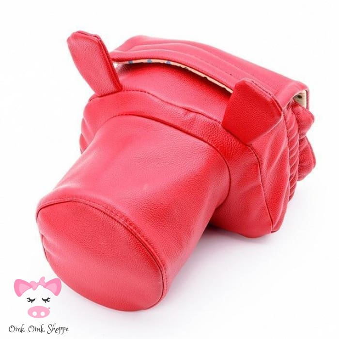 Pig Lovers Camera Bag - Small Red