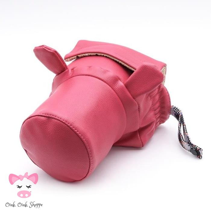Pig Lovers Camera Bag - Small Rose Red