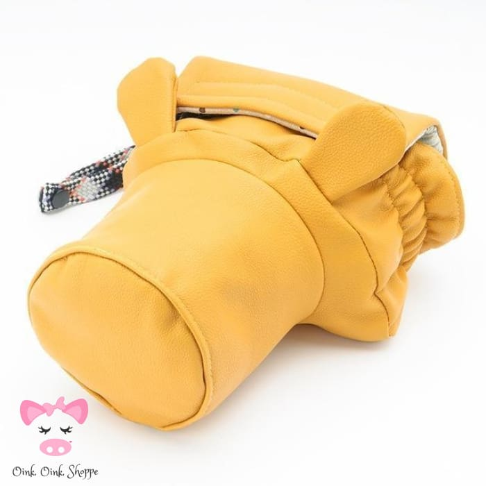 Pig Lovers Camera Bag - Small Yellow