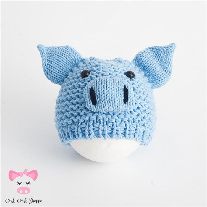 Pigfect Crochet Hat - Blue