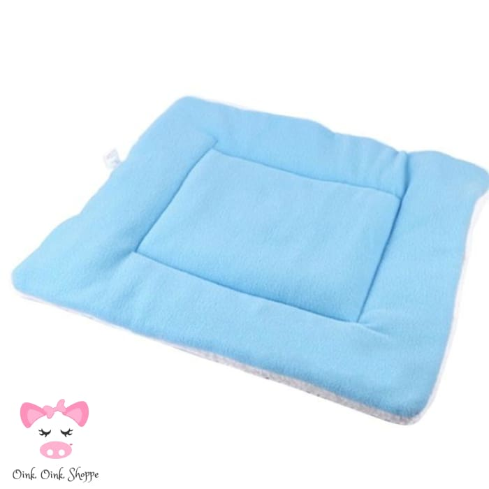 Pigfectly Soft And Comfy Fleece Mat - Blue / Large / Us