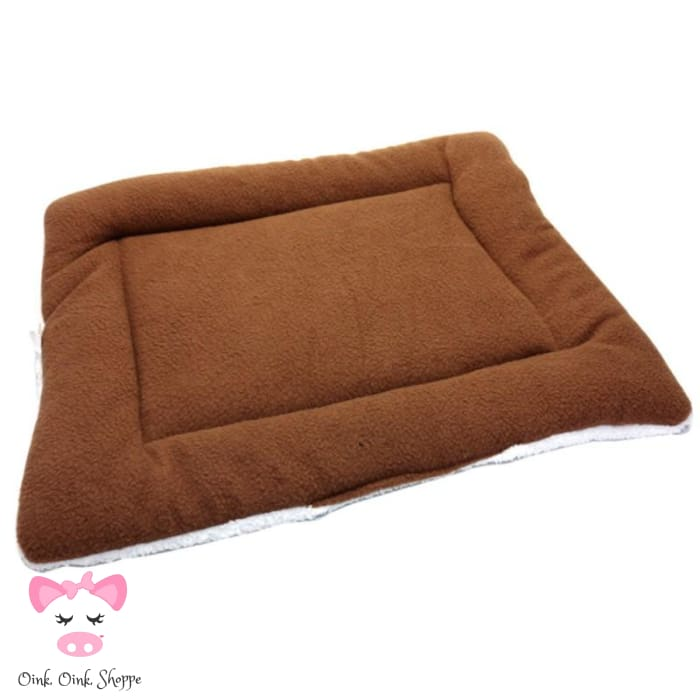Pigfectly Soft And Comfy Fleece Mat - Brown / Large / Us
