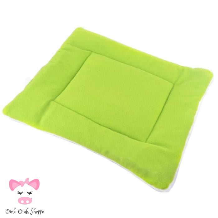 Pigfectly Soft And Comfy Fleece Mat - Green / Large / Us