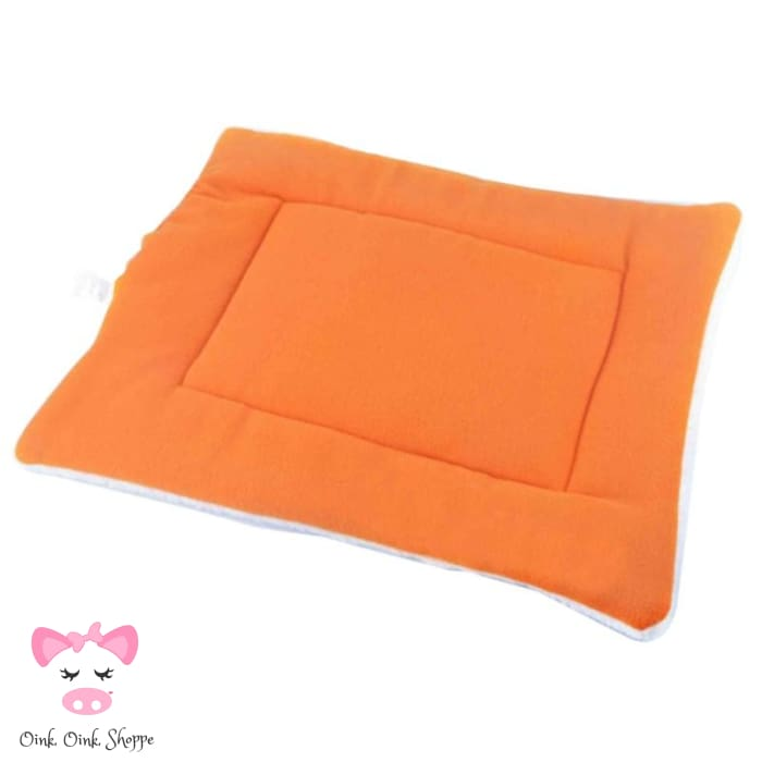 Pigfectly Soft And Comfy Fleece Mat - Orange / Large / Us