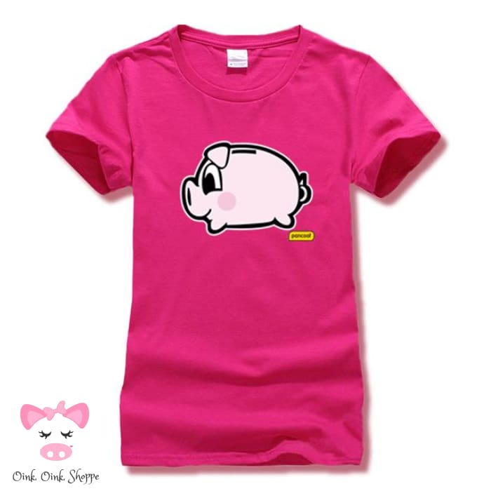 Piggy Bank T-Shirt - Pink / S