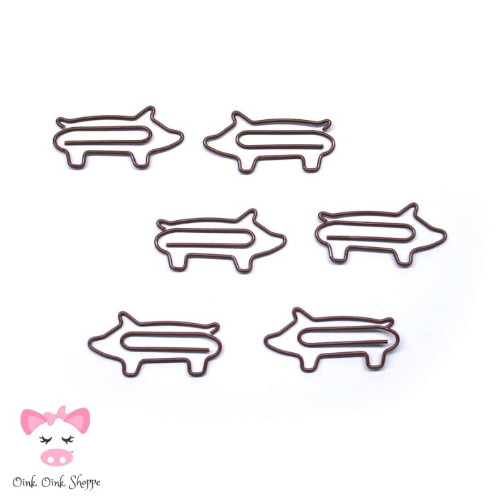 Piggy Decorative Bookmark Paper Clips - Amz