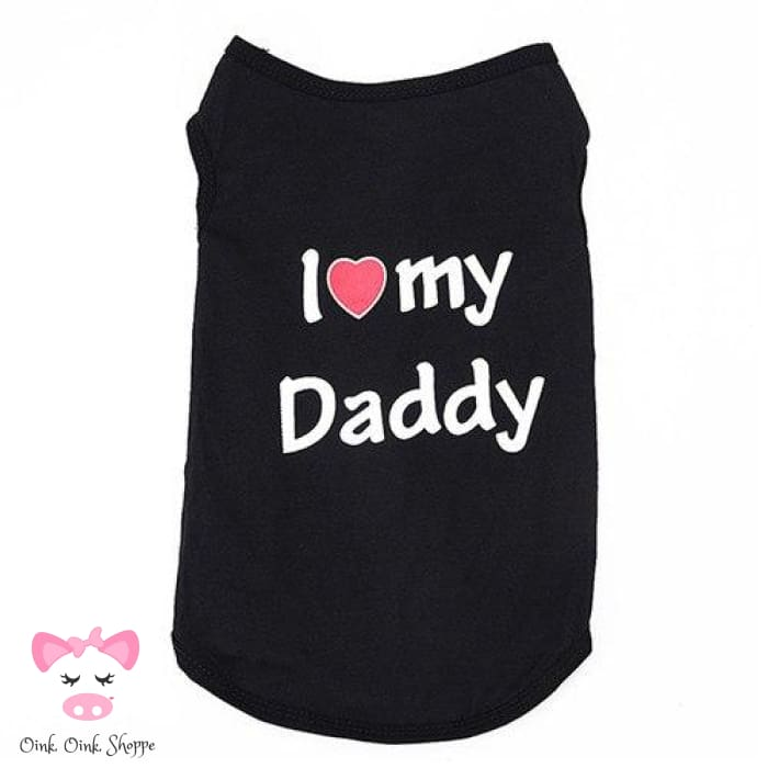 Piggy Loves Mommy & Daddy Tee - Black Daddy / Xs