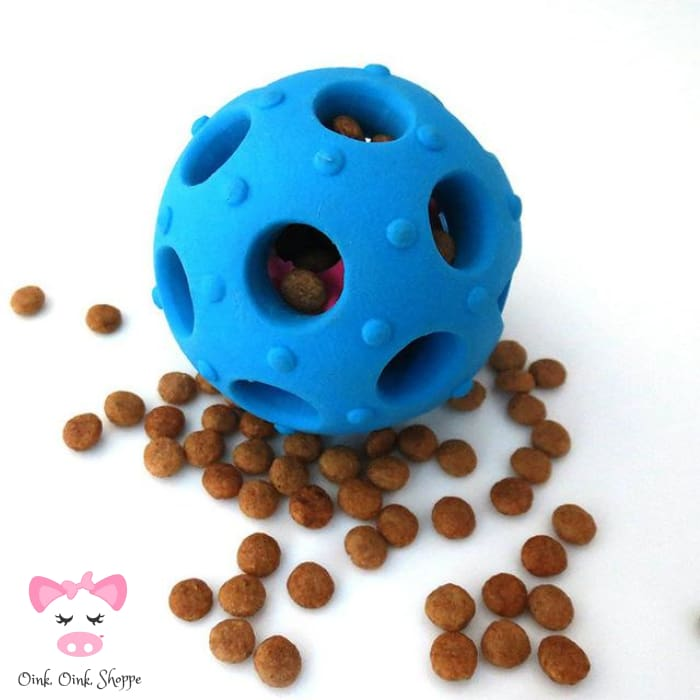 Piggy Please Treat Ball - Blue / 7Cm