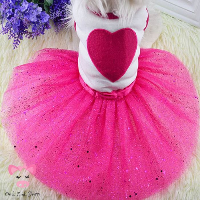 Piggy Princess Bling Dress - Hot Pink / L