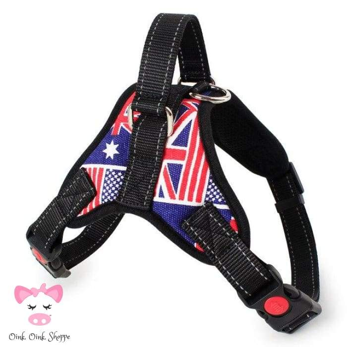 Piggys Choice Padded Harness - Flags / S