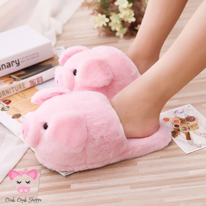 Plush Oinky Slippers