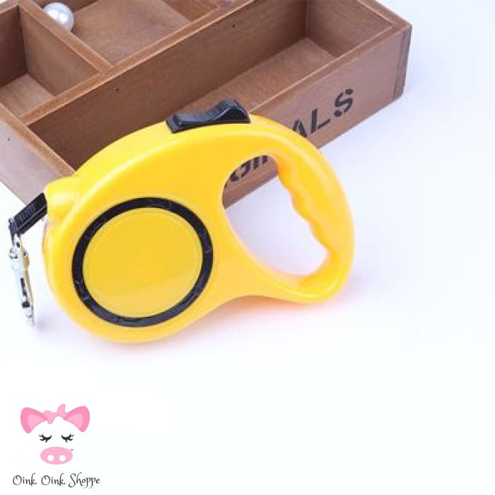 Retractable Pig Leash - Yellow / M