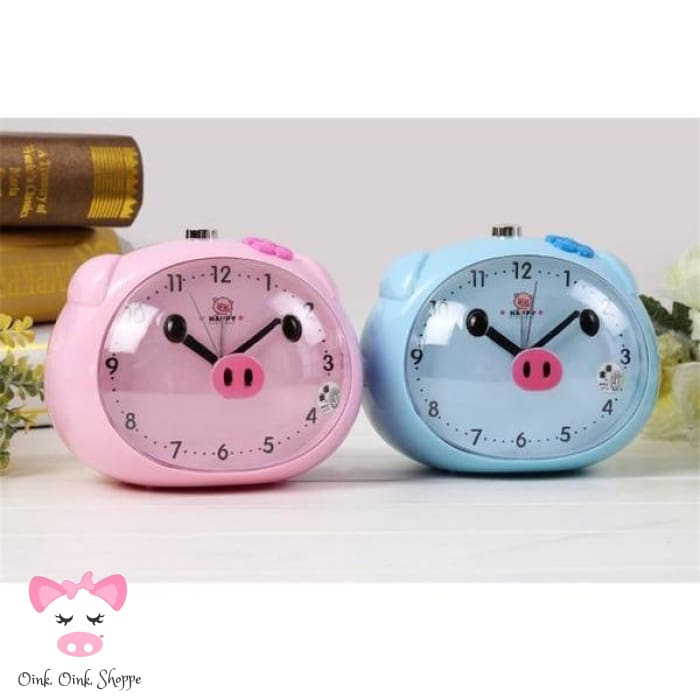 Rise & Swine LED Alarm Clock - Blue