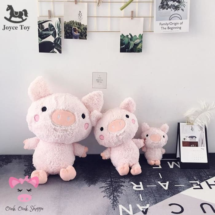 Scruffy Pig Plush Family - 20cm