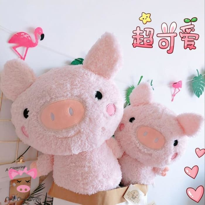 Scruffy Pig Plush Family