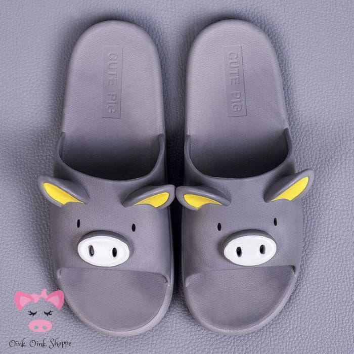 Snout Unisex Slippers - Gray / 6