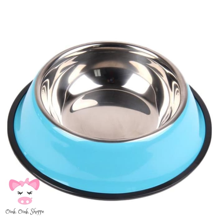 Snoutie Stainless Steel Bowl - Blue / L