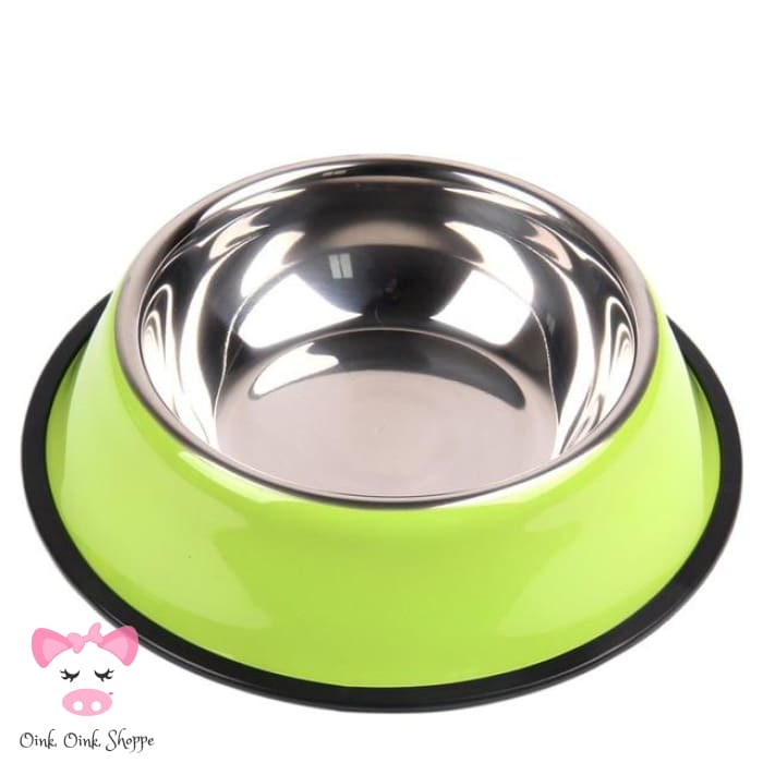 Snoutie Stainless Steel Bowl - Green / L
