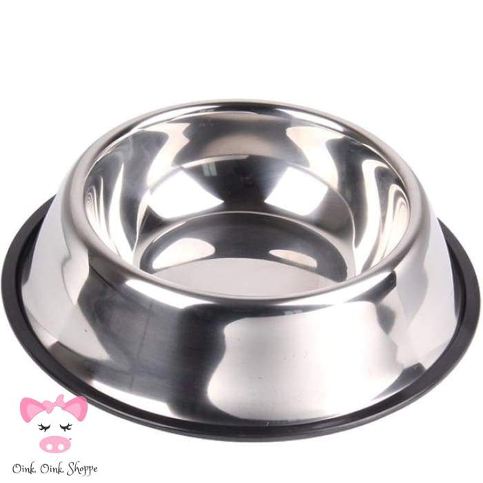Snoutie Stainless Steel Bowl - Silver / L