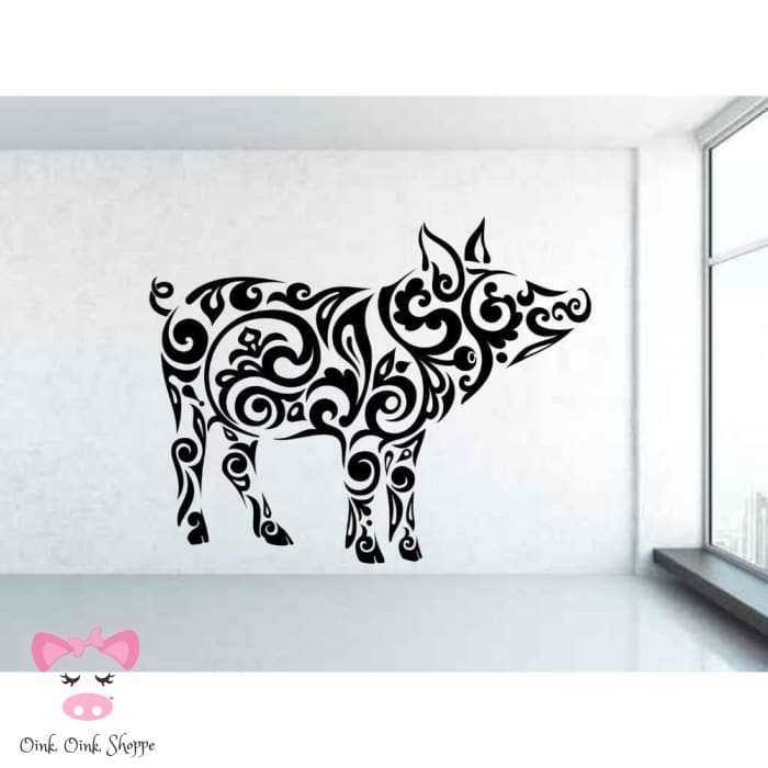 Splendid Swine Wall Decor - Black / 42x33cm