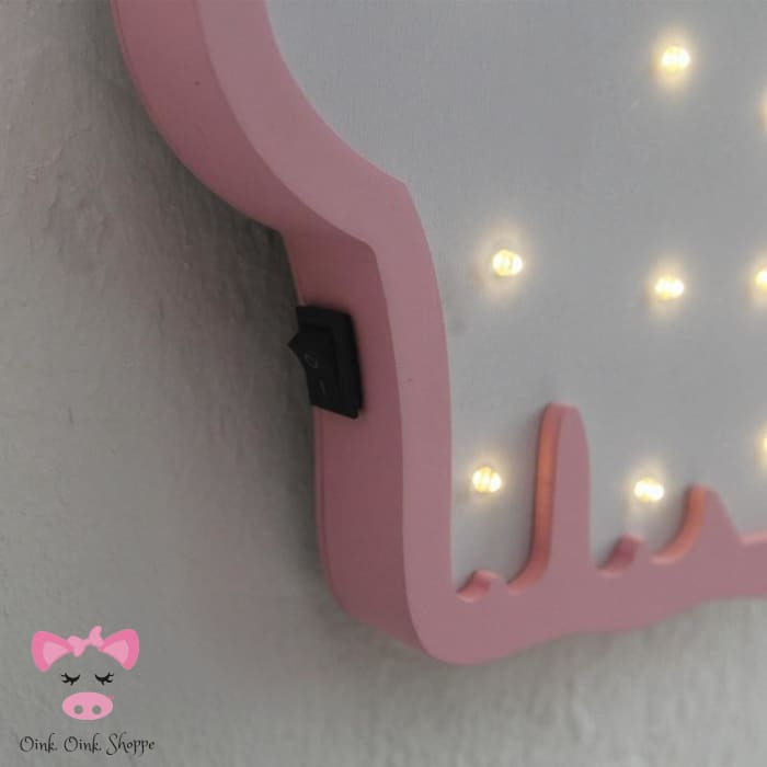 Sweet Wooden Pig Led Marquee