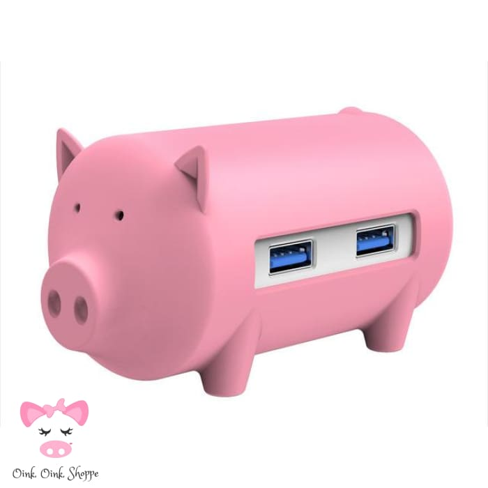 Wise Swine Usb Hub - Pink - Only Pink On Ae/all On Amz
