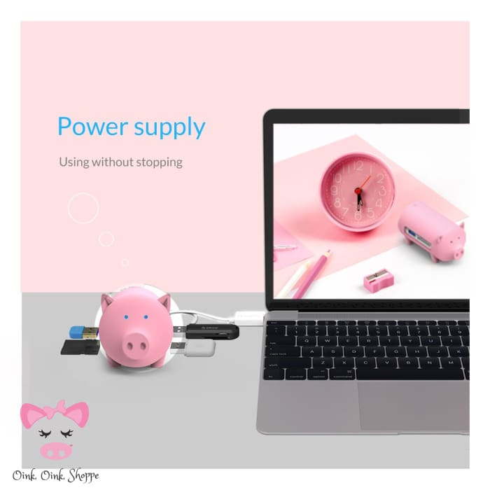 Wise Swine Usb Hub - Only Pink On Ae/all On Amz