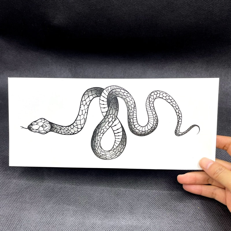 Black Snake Semi-Permanent Tattoo - Hiplidz.com