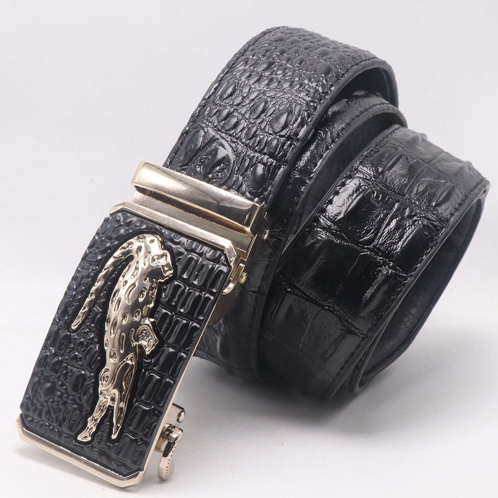 Leather Pattern Crocodile Belt and Buckle - Hiplidz.com
