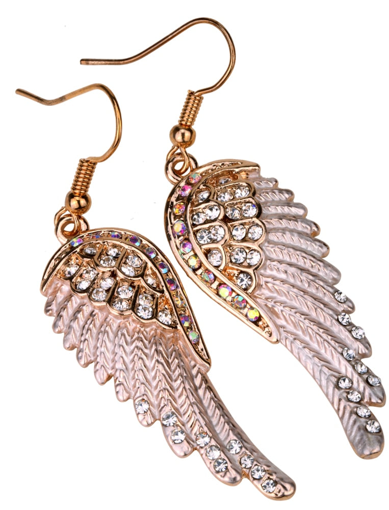 Guardian Angel Wings Dangle Earrings - Hiplidz.com