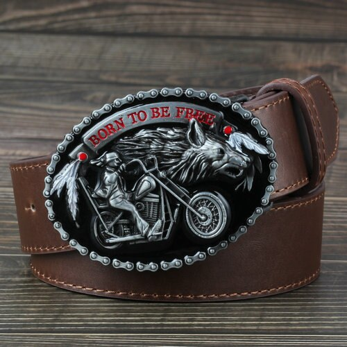 Motorcycle And Wolf Buckle Fashion Decorative Belt For men - Hiplidz.com
