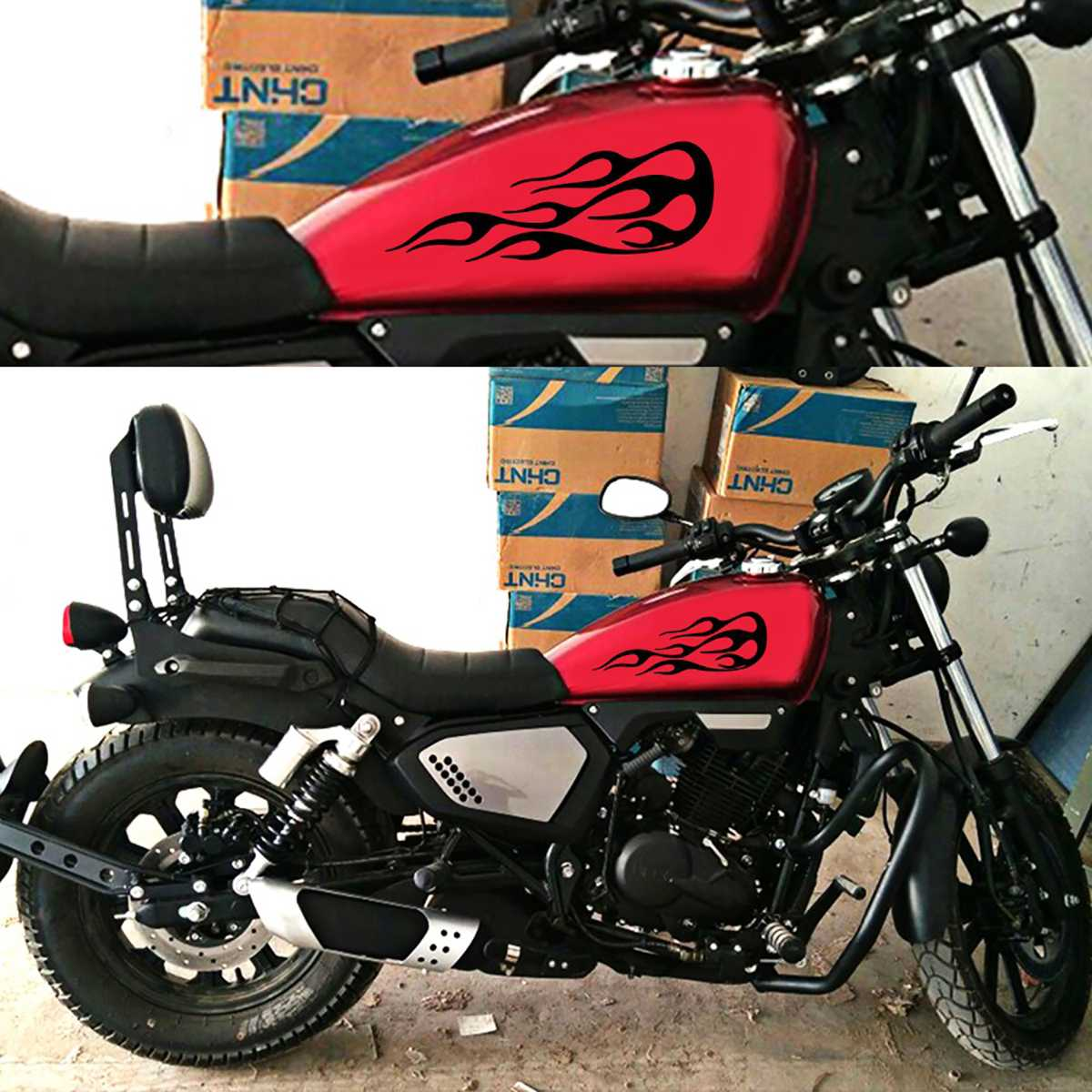 Gas Tank Flames Decals - Hiplidz.com