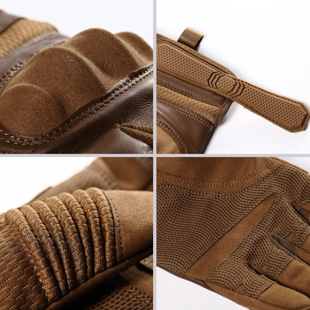 CISE Leather Motorcycle Gloves - Hiplidz.com