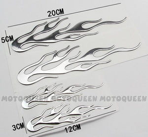 3D Motorcycle Tank Flame Decals - Hiplidz.com