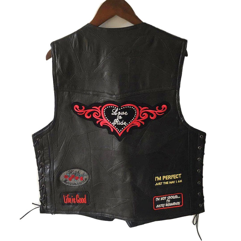 Rebel Sleeveless Leather Vests - Hiplidz.com