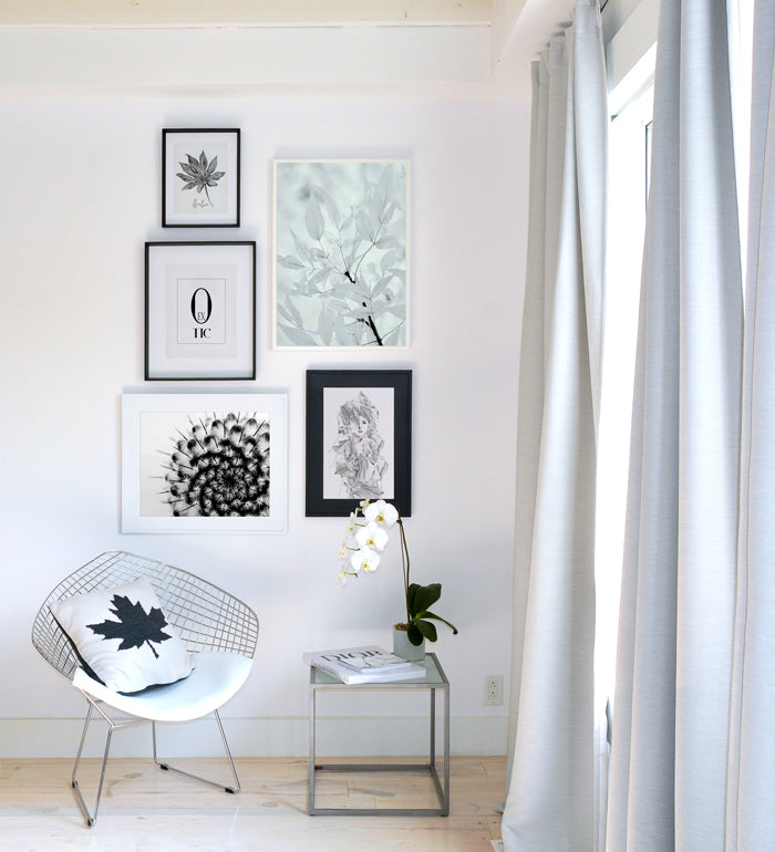 Botanical Art Gallery - Black & White