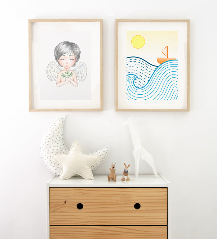 Art prints above dresser for little boys room Posterwol